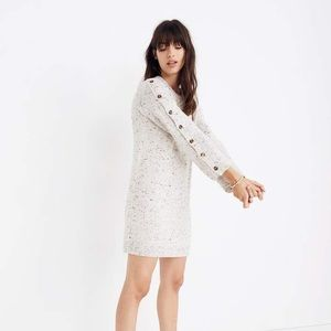 Madewell Donegal Button Sweater Dress